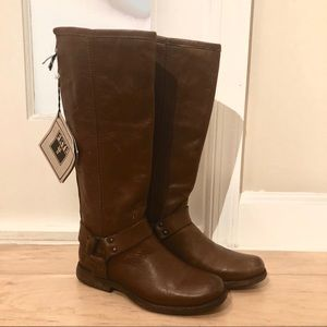 NWT Tall Frye Phillip Harness Boot, Size 5.5